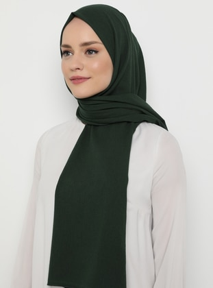 Green - Plain -  - Shawl