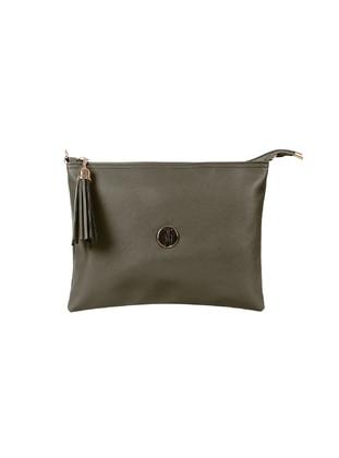 Khaki - Clutch Bags / Handbags
