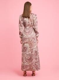 Dusty Rose - Dusty Rose - Ethnic - Geometric - Polo neck - Unlined - Cotton - Dress