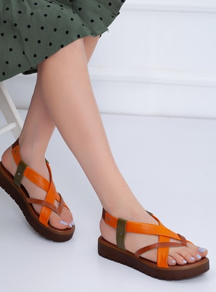 Tan - Orange - Sandal - Sandal