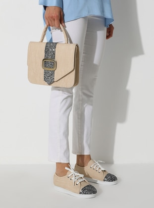 Beige - Gray - Flat - Suit