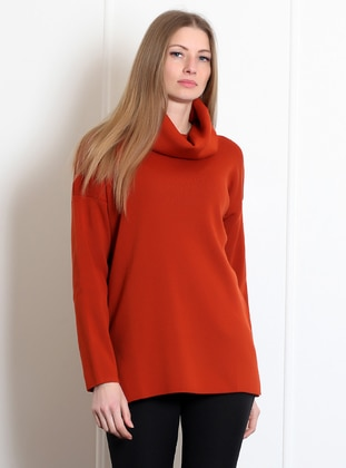 Terra Cotta - Polo neck -  - Blouses