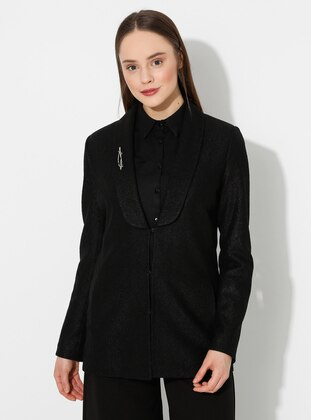 Black - Shawl Collar - Jacket