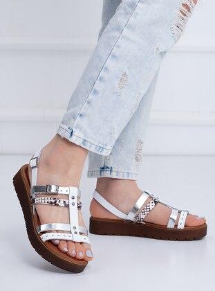White - Lamé - Sandal - Sandal