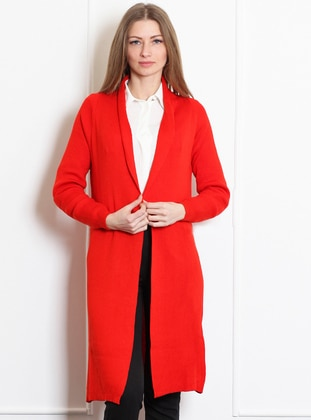 Coral -  - Wool Blend - Cardigan