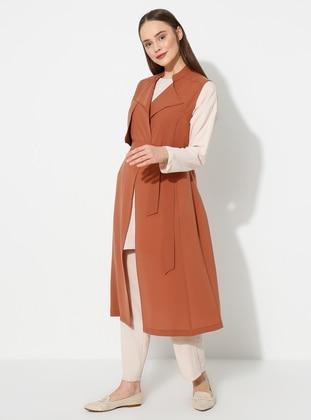 Cinnamon - Shawl Collar - Vest