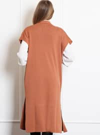 Camel - Onion Skin -  - Wool Blend - Vest