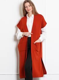 Terra Cotta - Unlined -  - Wool Blend - Vest