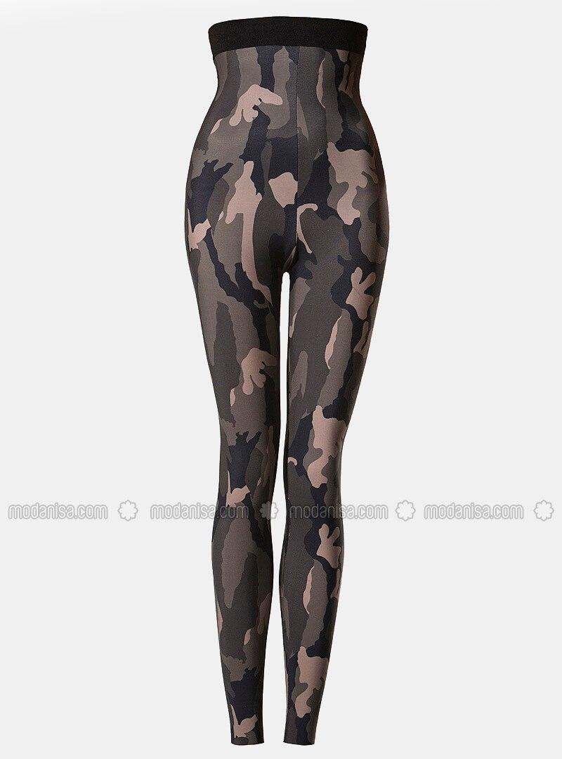 Khaki Kaos Dalam Korset Celana Legging