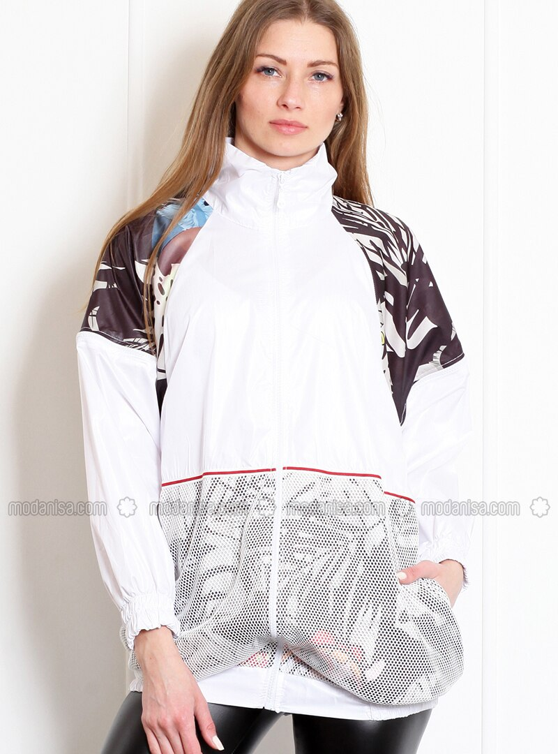 White - Unlined - Polo neck - Acrylic - Puffer Jackets