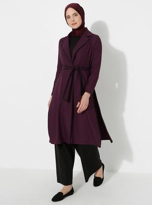 Purple - Shawl Collar - Topcoat