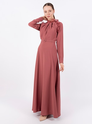 Dusty Rose - Polo neck - Fully Lined - Dress