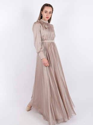 Mink - Polo neck - Fully Lined - Dress