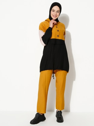 Mustard - Black - Unlined - Suit