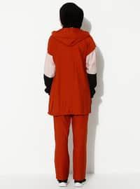 Terra Cotta - Black - Unlined - Suit