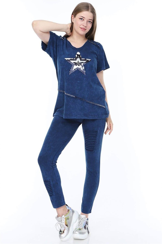 Plus Size Suit MJORA Navy Blue