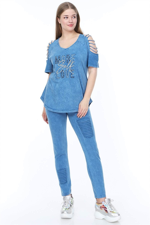 Plus Size Suit MJORA Blue