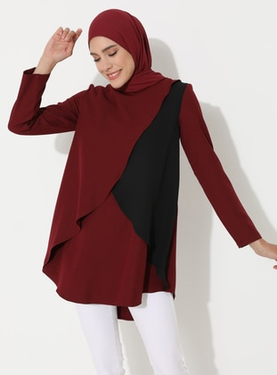 Plum - Black - Crew neck - Tunic