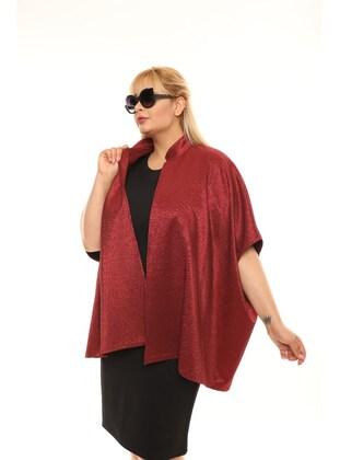 Maroon - Plus Size Jacket
