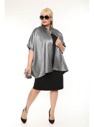 Gray - Plus Size Jacket