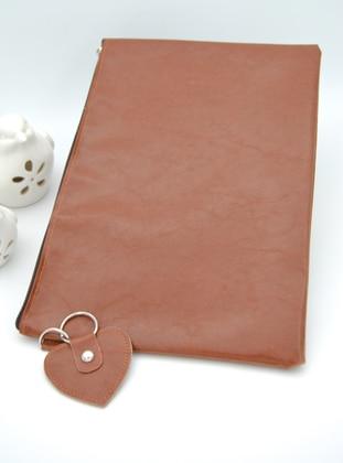 Tan - Clutch - Clutch Bags / Handbags