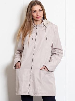 Beige - Unlined - Coat