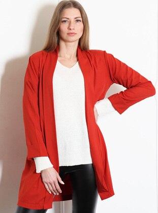 Orange - Unlined - Shawl Collar - Jacket