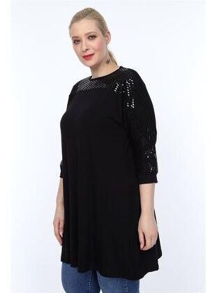 Black - Plus Size Tunic