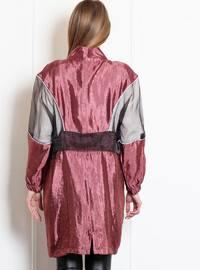 Rose - Unlined - Polo neck - Acrylic - Viscose - Puffer Jackets