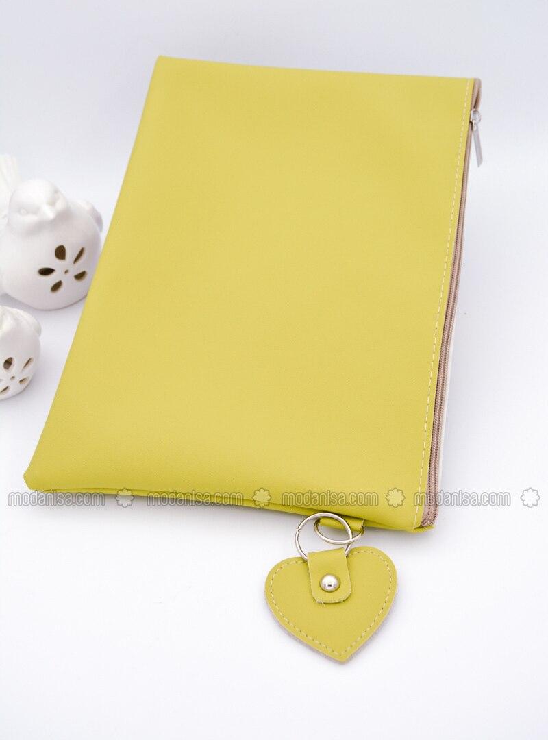 Yellow - Green - Clutch - Clutch Bags / Handbags