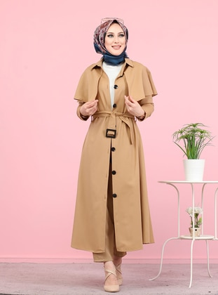 Mink - Unlined - Point Collar -  - Trench Coat