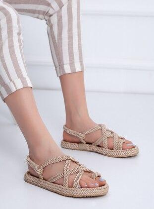 Cream - Sandal - Slippers