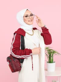 Maroon -  - Tracksuit Top -  Sports