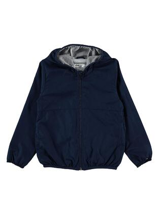 Navy Blue - Boys` Raincoat