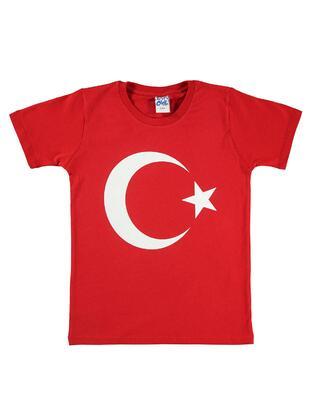 Red - Boys` T-Shirt - Civil