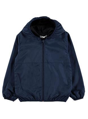 Navy Blue - Girls` Raincoat - Civil