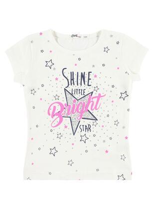 Ecru - Girls` T-Shirt