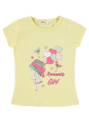 Yellow - Girls` T-Shirt - Civil