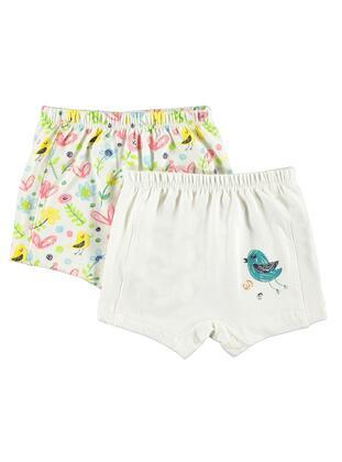 Ecru - Baby Underwear Set
