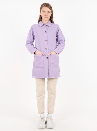 Lilac - Unlined - Point Collar -  - Jacket
