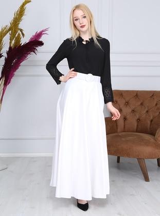 White - Fully Lined - - Skirt