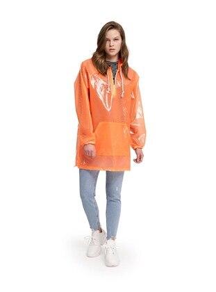 Orange - Unlined - Trench Coat