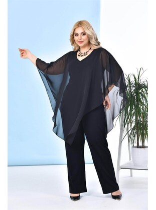 Black - Plus Size Jumpsuits