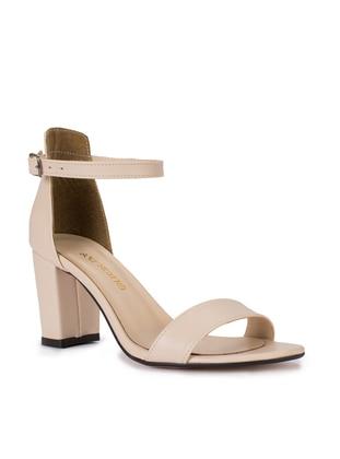 Beige - High Heel - Sandal