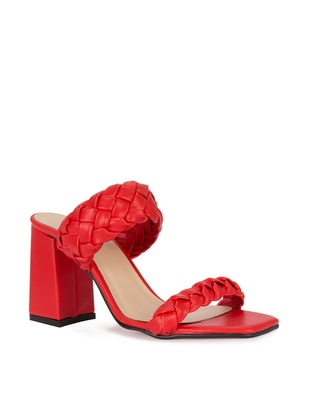 Red - High Heel - Slippers