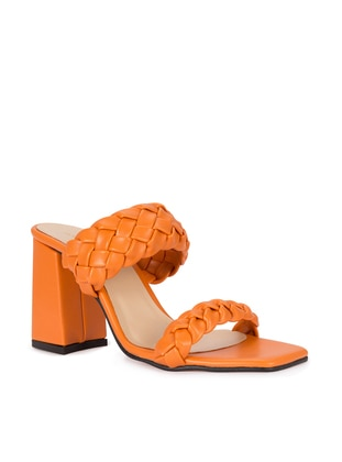 Orange - High Heel - Slippers