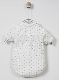 Point Collar - - Navy Blue - Boys` Shirt