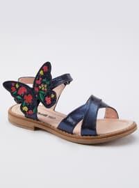 Navy Blue - Girls` Sandals
