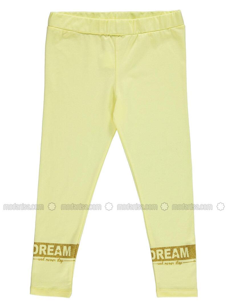 Kuning Celana Legging Wanita