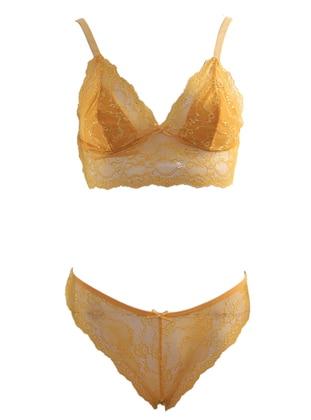 Mustard - Yellow - Bra Set